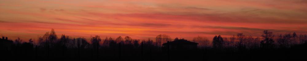 Immagine cielo rosso sopra Rubano